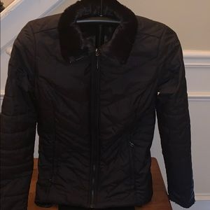 The North face reversible furry jacket- Size Small